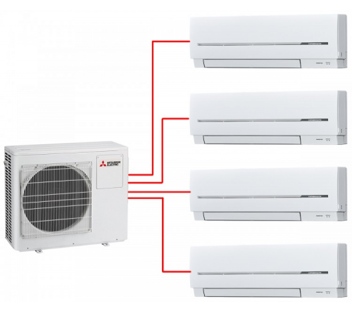 Сплит-система Mitsubishi Electric MXZ-4E83VAHZ - MSZ-SF25VE*4